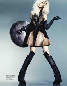 the warrior princess: cathrine norgaard by lee broomfield for elle russia december 2012 | visual optimism; fashion editorials, shows, campaigns & more!