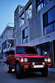 Mitsubishi Pajero -> Hyundai Galloper -> Mohenic Garages redesign - MohenicG Red Classic for Short. www.the.co.kr