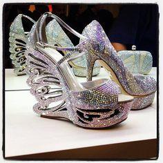 Mercedeh Shoes-Extraordinary sparkling high heels