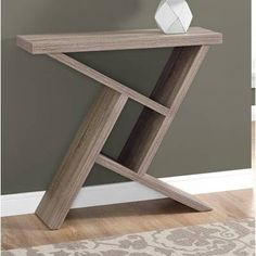 Affordable Price Ayling Modern Console Table By Orren Ellis Diy Furniture Projects, Diy Wood Projects, Unique Furniture, Woodworking Projects, Furniture Design, Glass Furniture, Accent Furniture, Cheap Furniture, Wood Table Design