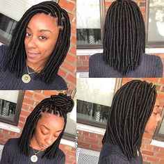 How cute is this #fauxlocs bob by #BrooklynStylist @simplygeniee ❤️#voiceofhair
