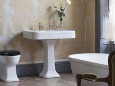 Create a professional, beautiful looking bathroom - Single basin with overflow & pedestal from Arcade Bathrooms. http://www.arcadebathrooms.com/Products/ProductDetail?prodId=80047&name=900mm%20basin%20with%20overflow%20%26%20pedestal