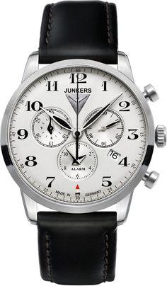 2710150e58e Junkers Reloj 6380-4 Aviation Dessau Flatline Itens Masculinos