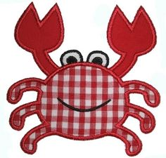 Crab Applique3 Sizes | Beach/Ocean | Machine Embroidery Designs | SWAKembroidery.com Embroidery Boutique