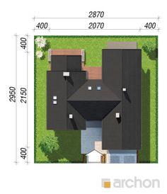 projekt Dom w kliwiach 4 sytuacja Architecture Design, House Plans, House Design, Patio, Flat, Projects, Homes, Blueprints For Homes, Architecture Layout