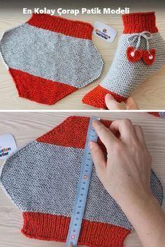En Kolay Çorap Patik Modeli - greenlake You are in the right place about handstulpen stricken Diy Crafts Knitting, Easy Knitting, Knitting For Beginners, Knitting Socks, Baby Knitting Patterns, Knitting Designs, Crochet Patterns, Knitted Slippers, Crochet Slippers