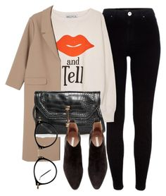 """""""Untitled #5135"""" by laurenmboot ❤ liked on Polyvore featuring River Island, Wildfox, Monki, MANGO and H&M"""