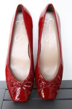 Jessica Simpson Red Patent Flat