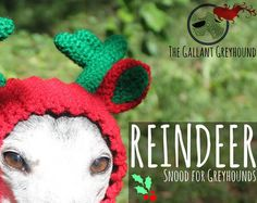 Reindeer snood from The Gallant Greyhound on Etsy! Choose from lots of colors!