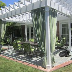 Patio Curtains Design Ideas, Pictures, Remodel, and Decor