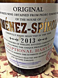 El Alma del Vino.: Bodegas Ximénez-Spinola Exceptional Harvest 2013.
