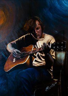 Chitarrista in un locale notturno