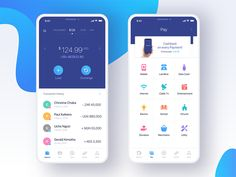 Main Dashboard and Pay screeen designed by vijay verma. Connect with them on Dribbble; the global community for designers and creative professionals. Web Design, App Ui Design, Mobile App Design, Design Layouts, Interface Design, Flat Design, User Interface, Logo Design, Android App Design