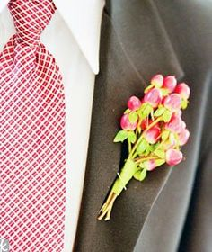 red and grey groomsmen