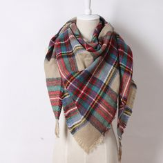 2016 módní návrhář značky Cashmere Triangle růžový šátek Zimní Women Šátek Pashmina Cape Blanket Plaid foulard Velkoobchod