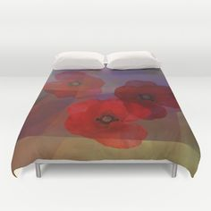 Summer promise with red poppies Duvet Cover