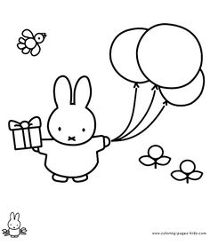 Miffy color page cartoon characters coloring pages, color plate, coloring sheet,printable coloring picture