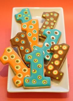 Love these cookies!!! For a 1st boy party!