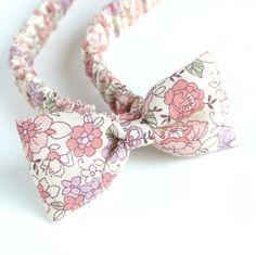 ぷっくりリボンのヘアバンド YUWA クラシックフラワー ピンク