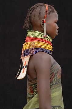 The Turkana people live in northern Kenya, around lake Turkana. They still keep their traditions.