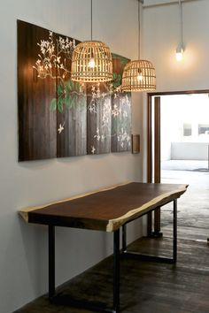 Wood Dining Table x Herman Furniture Singapore