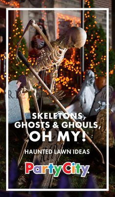 Go all out this Halloween. Poseable skeletons, 7-foot hanging ghouls and giant tarantulas are just a few of the affordable props that will completely transform your front yard or porch. The most frightful year yet, only with Party City.