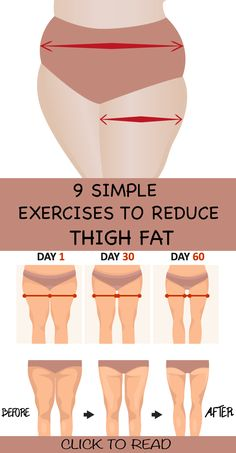 "9 Simple & Best Exercises To Reduce Thigh Fat Fast At Home ! Having fat or plump does mean that you cannot get rid of it, and also this should not make you think negatively about yourself. And as the proverb goes, ""when there is a will, there is a way"". Reduce Thigh Fat, Exercise To Reduce Thighs, Reduce Belly Fat, Lose Belly Fat, Lose Weight In A Week, How To Lose Weight Fast, Thigh Exercises, Fitness Exercises, Stretches"