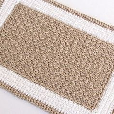 This crochet pattern looks difficult but it actually works up very quickly -- you could make your rug in a weekend!