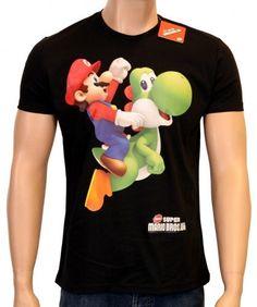 Camiseta de Mario Bros y Yoshi  #love #play #fun #geek&freak #mario&yoshi