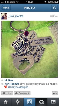 www.kizzybeldesigns.com :: Like us on Facebook: www.facebook.com/kizzybeldesigns  Follow us on Instagram: www.instagram.com/isabelpizarro #military #militaryjewerly #support #homecoming #supportjewelry #jewelry #kizzybeldesigns #customjewelry #army #navy #marine #charms #airforce #militarycharms #armykeychain #nametape #magnets #bottlecaps #armywife #nametapebracelet #bracelet #necklace #bellyring #keychain #cutejewelry #uniquejewelry #customdesigns #custom #handmade #gift #deployment #cute