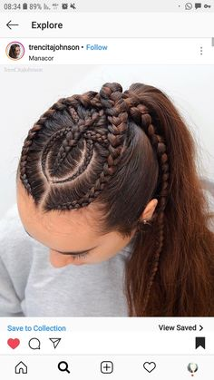 Trensitas i love box braids! Girl Hairstyles, Braided Hairstyles, Curly Hair Styles, Natural Hair Styles, Cool Braids, Hair Creations, Braid Styles, Hair Dos, Gorgeous Hair