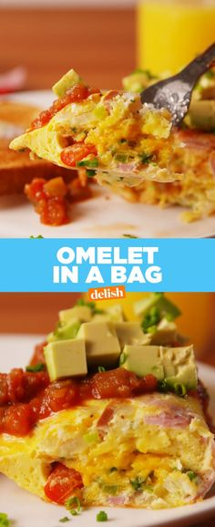 Omelet In A Bag Recipe Breakfast Omelet Recipes Healthy Recipes, Great Recipes, Cooking Recipes, Favorite Recipes, Recipe Ideas, Gf Recipes, Healthy Breakfasts, Healthy Meals, Delicious Recipes