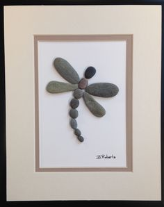 Dragonfly Pebble Art