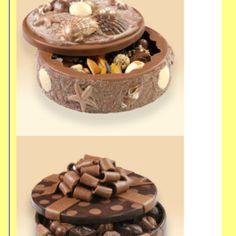 Candy boxes made from chocolate