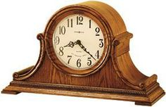 Howard Miller Hillsborough Oak Dual Chime Mantel Clock