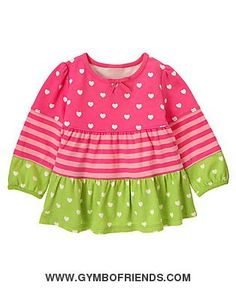 NWT Gymboree - Loveable Giraffe - Heart Stripe Tiered Top - Size 3T - 1 available - $14 shipped