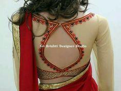 Saree Blouse Neck Designs, Fancy Blouse Designs, Bridal Blouse Designs, Blouse Patterns, Indian Blouse Designs, Kurta Designs, Kitenge, Naeem Khan, Cheongsam