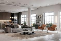 Modern apartment in Berlin - Dezign Ark (Beta) Home Interior Design, House Design, Sofa Design, Modern Apartment, Modern Living Room Interior, Apartment Design, Interior Design, House Interior, Contemporary Dining Room Design