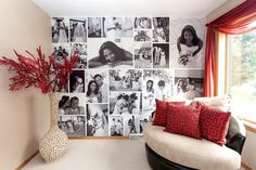 No Nail Wall Decorating | WeMontage is a great website for making a personalized wall gallery!