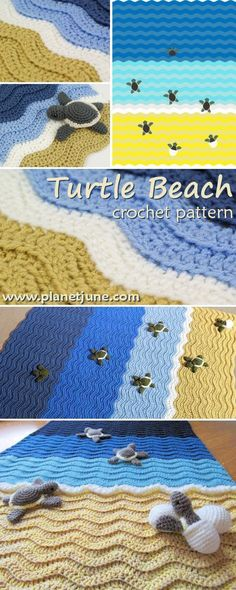 FREE Turtle Blanket crochet pattern - Pinned by intheloopcrafts.blogspot.com
