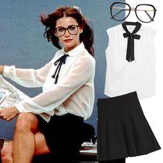 Lois Lane este Halloween Muy fácil de hacer este disfraz de la linda reportera enamorada de Superman