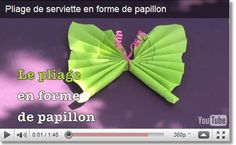Pliage de serviettes papillon Origami, Butterfly Party, Napkin Folding, Decoration Table, Napkins, Tableware, Html, Communion, Tables