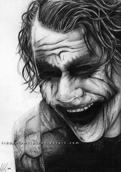 The Joker por RiaSal en DeviantArt Der Joker, Heath Ledger Joker, Joker Art, Badass Drawings, Joker Drawings, Art Drawings Sketches, Joker Poster, Joker Hd Wallpaper, Joker Wallpapers