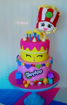 Shopkins cake so cute!