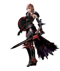 Lightning Farron, Final Fantasy XIII Dark,so much cooler! Final Fantasy Anime, Final Fantasy Type 0, Final Fantasy Girls, Lightning Final Fantasy, Final Fantasy Collection, Final Fantasy Artwork, Final Fantasy Characters, Fantasy Series, The Legend Of Zelda