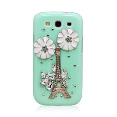 Attractive Eiffel Tower with Rhinestones Back Case for Samsung GALAXY S III i9300