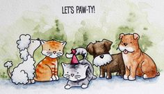 Peppermint Patty's Papercraft: Let's Paw-ty with Avery Elle's new stamps!
