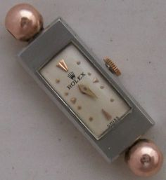 Rolex Princess Lady wristwatch steel & gold case load manual running condition, with a superb Art Deco to Modernist case.