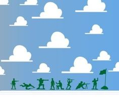 Green Army Men Toy Story Wall Decal