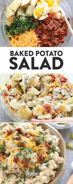 Get excited for the best BBQ side dish you will ever make! This baked potato sal… Get excited for the best BBQ side dish you will ever make! This baked potato sal… Bbq Chicken Side Dishes, Side Dishes For Bbq, Potato Side Dishes, Best Side Dishes, Side Dish Recipes, Dinner Recipes, Sides For Bbq Chicken, Cheap Side Dishes, Healthy Baked Potatoes